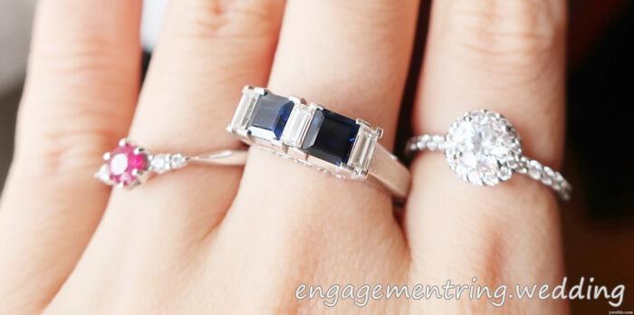 サファイアの婚約指輪
